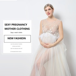 11 #827 موضة جديدة ملابس حريمي صور ملابس النساء الحوامل صور ملابس النساء الحوامل فستان الحمل الأم الملابس