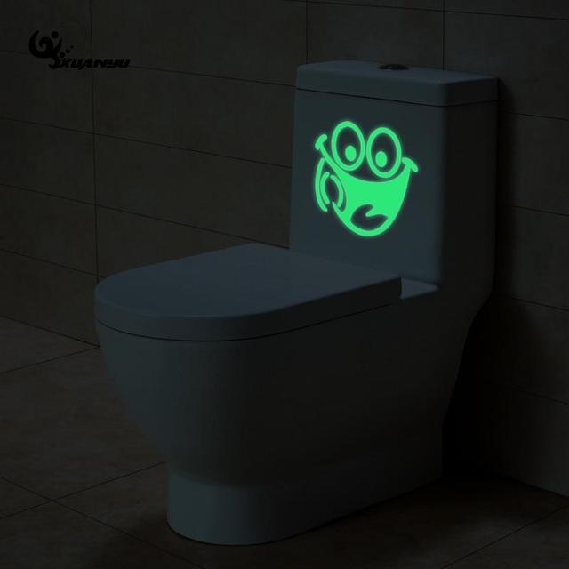 Lichtgevende Wc Sticker Lachend Gezicht Fluorescerende Stickers ...