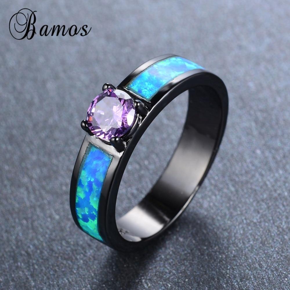 opal diamond 18k white gold ring blue opal wedding rings Opal and Diamond Ring in 18k White Gold mm