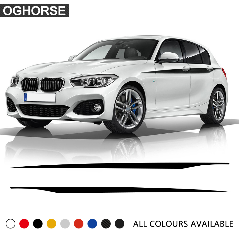 Door Side Stripe Waist line Decoration Vinyl Decal Car Stickers for BMW 1 Series F20 F21 118i 120i 125i 128i 135i Accessories image