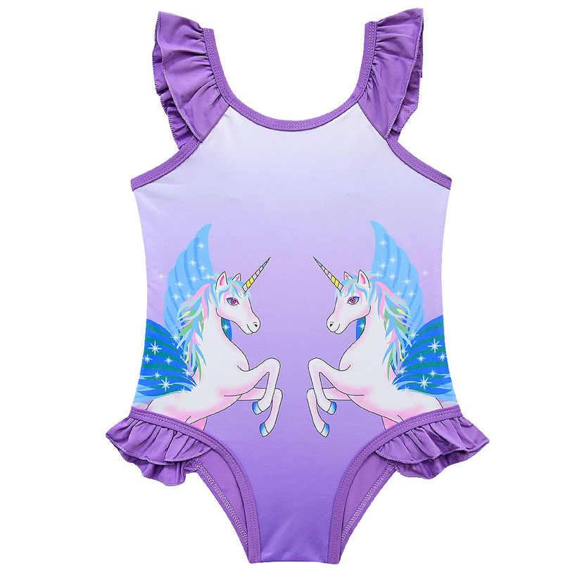 2020 ผู้หญิง One Piece ชุดว่ายน้ำสาวยูนิคอร์น Tutu ชุดว่ายน้ำ 2-10 ปีชุดว่ายน้ำเด็ก One Piece ชุดว่ายน้ำชายหาด