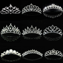 2016 Hot Wholesale Wedding Hair Accessories Bridal Hair Head Jewelry Tiaras And Crowns Girls Bridesmaid Bride Crown Tiara comb