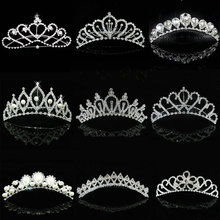 2018 Hot Wholesale Wedding Hair Accessories Bridal Hair Head Jewelry Tiaras And Crowns Girls Bridesmaid Bride