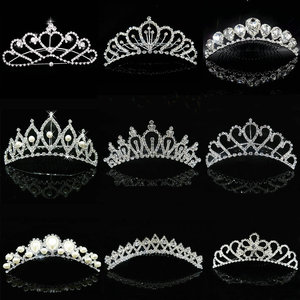 2018 Hot Wholesale Wedding Hair Accessories Bridal Hair Head Jewelry Tiaras And Crowns Girls Bridesmaid Bride Crown Tiara comb