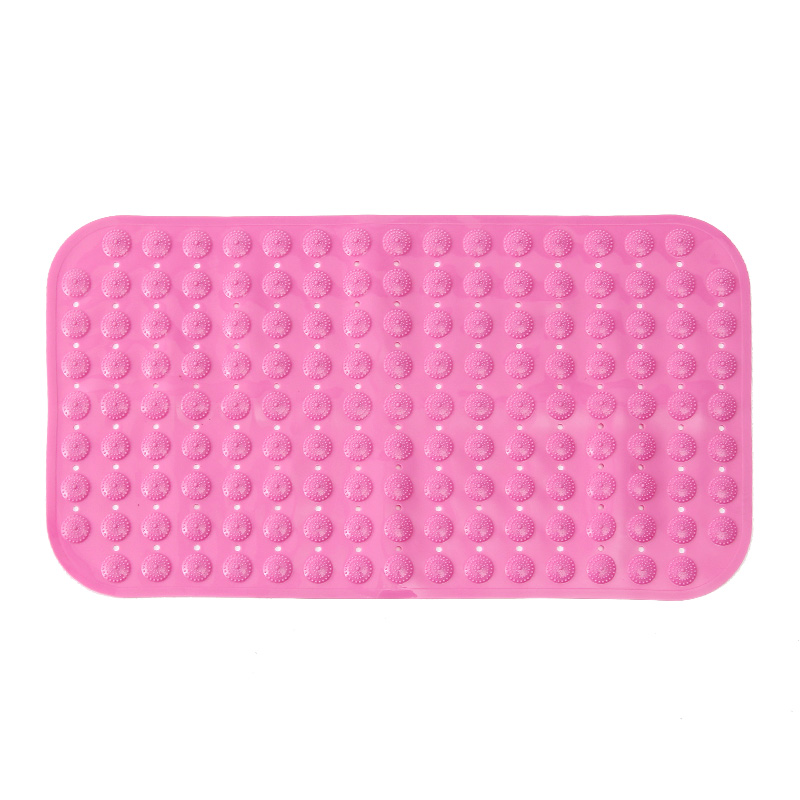 ORZ Non-slip Bath Mats Bathroom PVC Bathtub Shower Mat Toilet Rug Massage Carpet With Suction Cup Bathroom Accessories 71*39CM