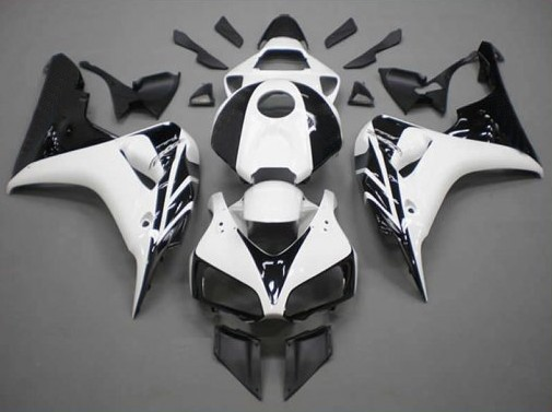 Hot Sales,06 07 CBR 1000 Fairing For Honda CBR1000RR 2006-2007 White and Black Fairings CBR 1000 RR Body Kit (Injection molding)