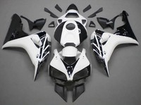 Hot Sales,06 07 CBR 1000 Fairing For Honda CBR1000RR 2006 2007 White and Black Fairings CBR 1000 RR Body Kit (Injection molding)
