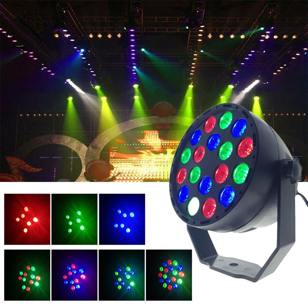 Industrial Light Sound Effect: DJ Disco 18W Sound Activated LED Laser Projector RGB Stage
