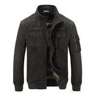 AFS JEEP Fashion Italy style jacket men high quality army men jacket military army green khaki zipper motorcycle jacket coat men
