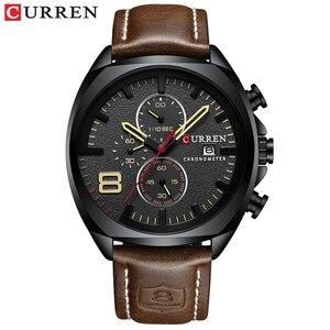 Image 2 - Nieuwe heren Horloges Top Brand Luxe CURREN Nieuwe Militaire Lederen Quartz Horloge Mannen Sport Horloge Relogio Masculino Mannelijke Uur