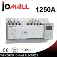 Interruptor de transferencia automática de 3 fases JOTTA 1250A con controlador en inglés