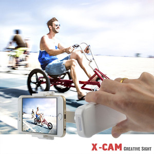 Image 5 - Cadiso X Cam يده موبايل فيديو 2 محور الهاتف مثبت أفقي للهاتف آيفون 8 plus سامسونج هواوي الهاتف الذكي Selfie عصا