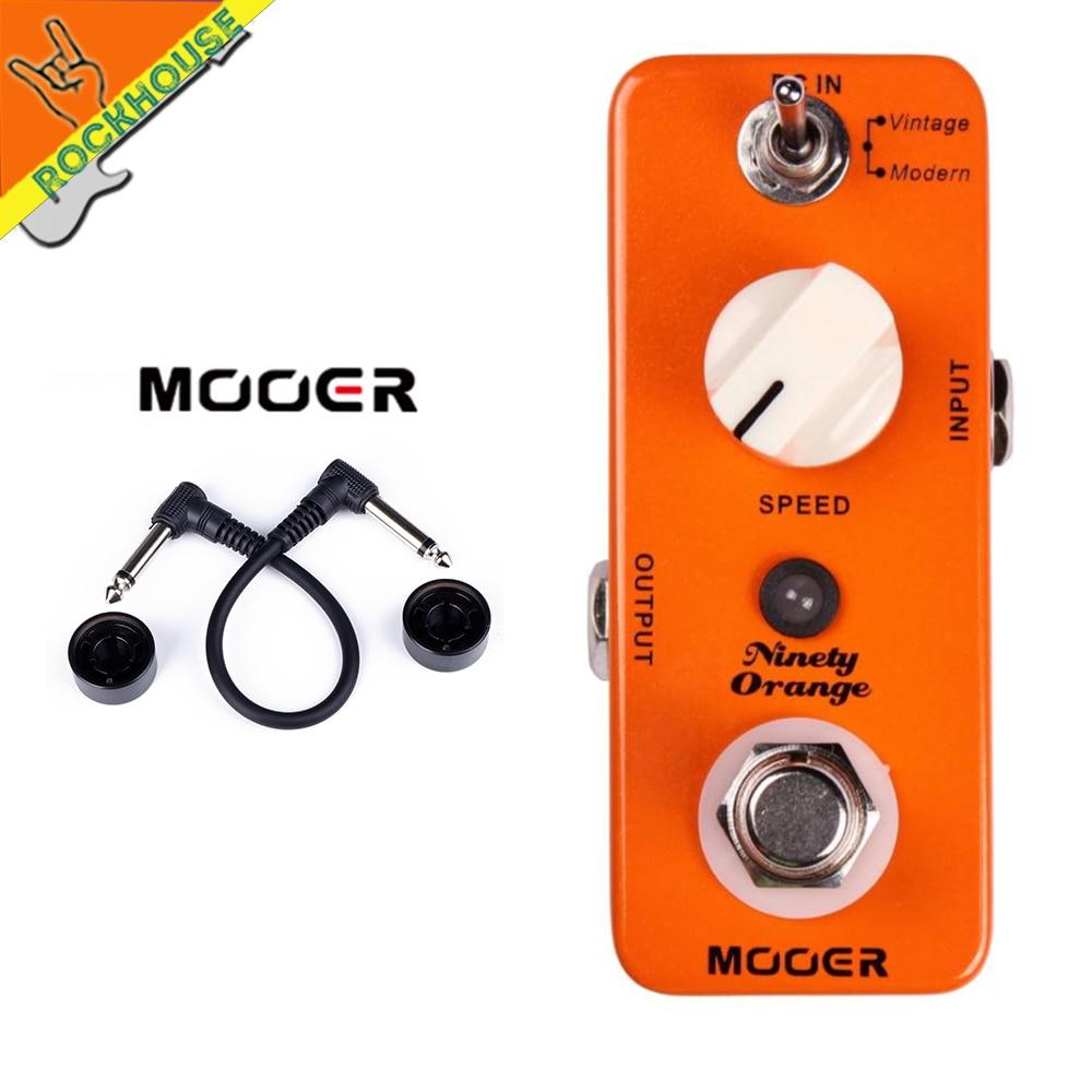 MOOER Ninety Orange Vintage Phaser Guitar Pedal Analog Phaser Guitar Effects Pedal Warm Deep Rich Phasing