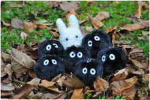 Wholesale 20pcs/Lot My Neighbor Totoro Fairydust Plush Toy Doll with Ring Small Pendant Promotion Gift 7cm