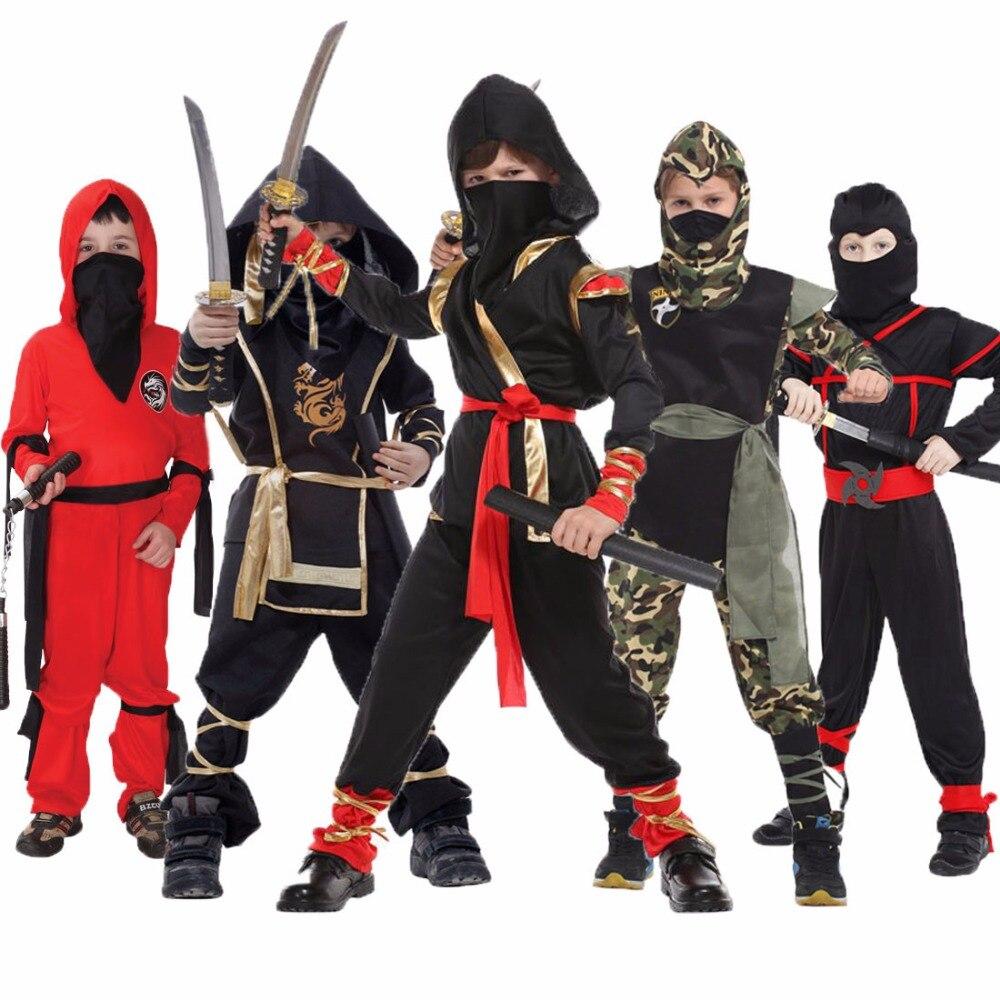 Umorden disfraces de Halloween niños dragón Ninja traje de Guerrero Cosplay carnaval fiesta de vestido para niños