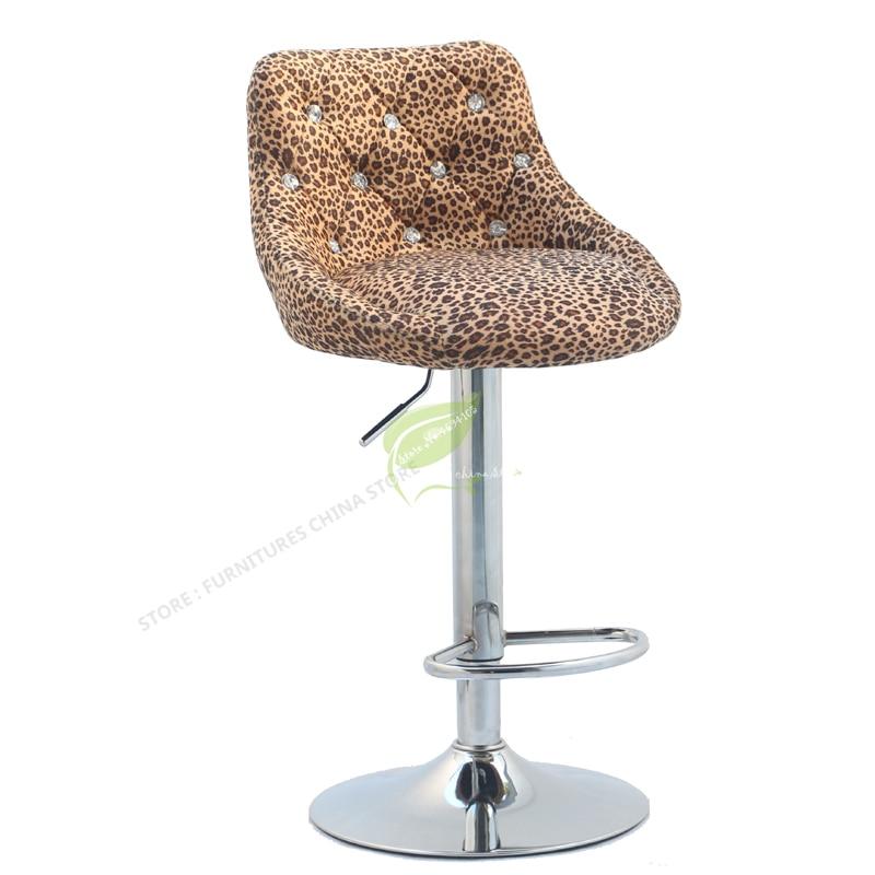 Modern Bar Stool   Tabouret De Bar  Furniture Make Up Chair Beauty Salon Furniture European Dotomy Style Simple Flannel