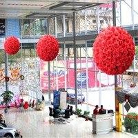 50 cm Dia Élégant Rose de Boule de Fleur Artificielle Bouquet De Mariage Baisers Balle Maîtresse Décorations Blanc Rouge Pourpre Rose Jaune
