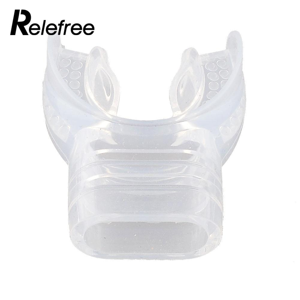 Transparent Clear Soft Silicone Scuba Diving Tube Bite Mouthpiece Regulator Hot