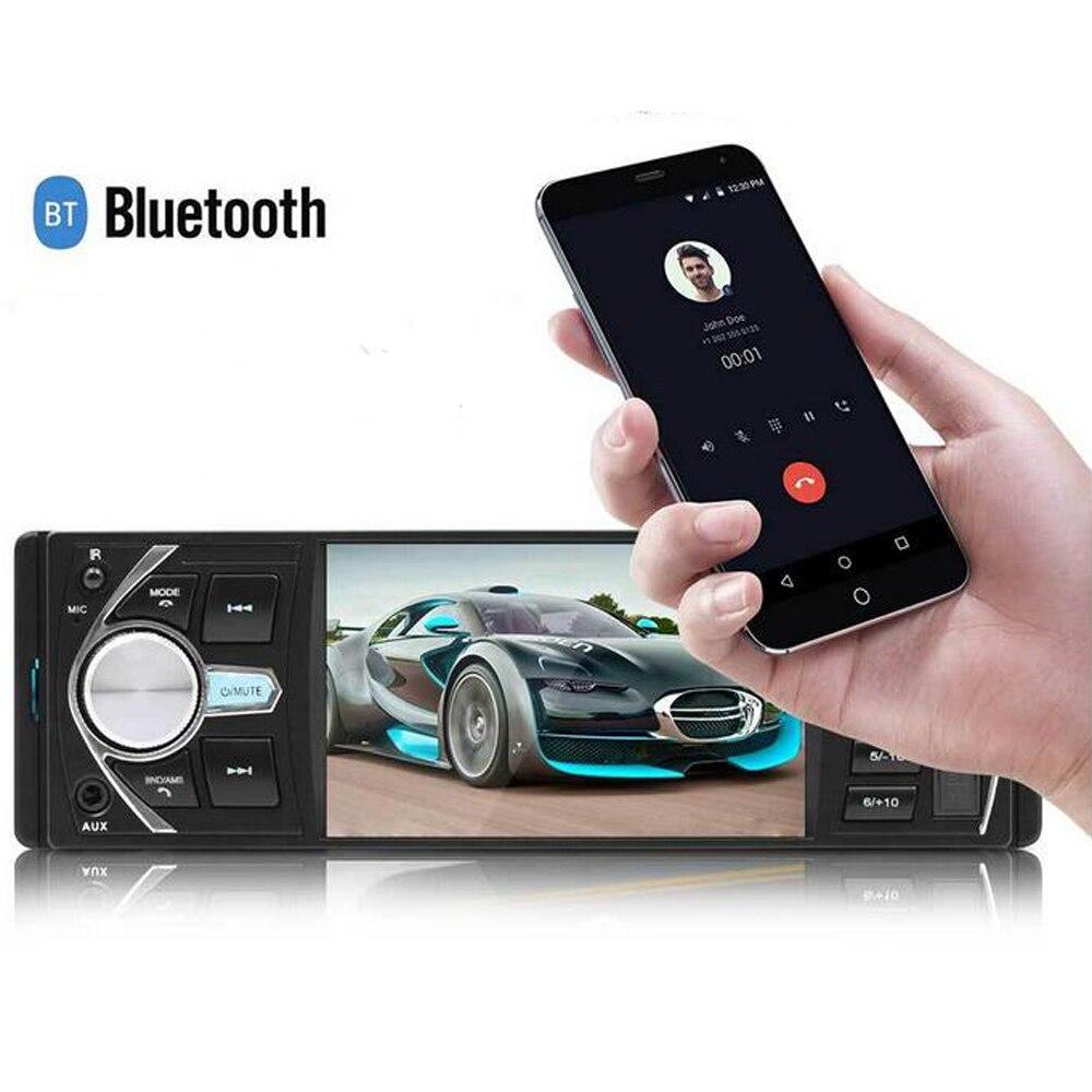Autoradio 4.1 Inch Car Radio 1 Din Bluetooth Stereo Car Vedio audio MP3 MP4 MP5 FM Support Remote Control Rear View Camera