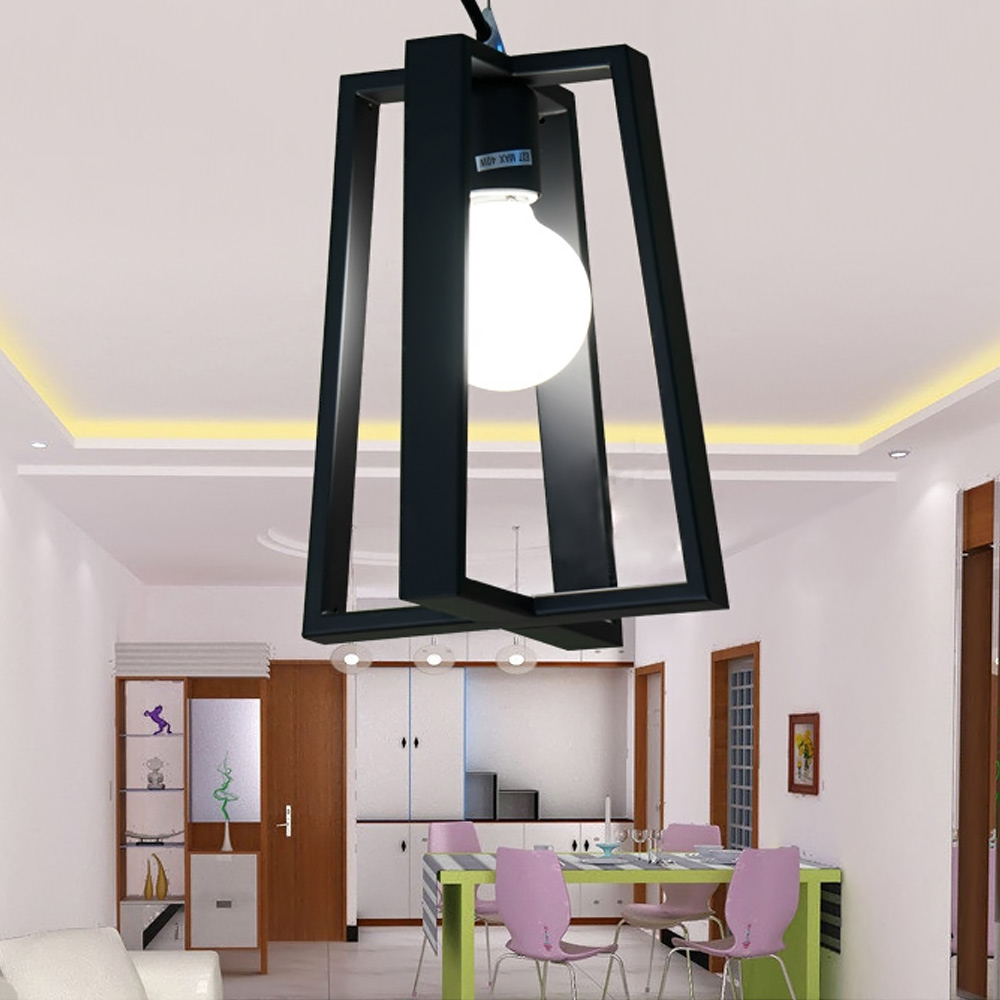 Modern E27 shape Iron LED pendant lights <font><b>Scandinavian</b></font> minimalist <font><b>home</b></font> <font><b>decoration</b></font> black/white dining room Pendant Lamp