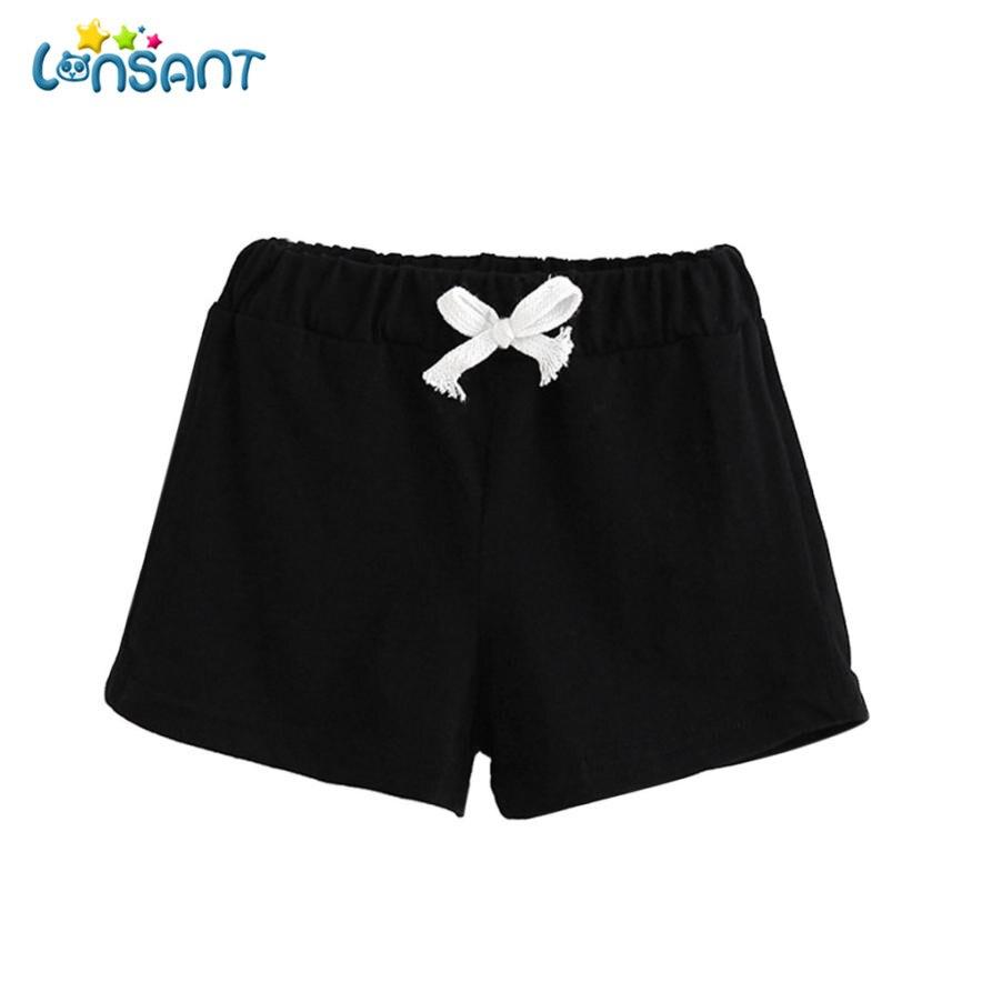 LONSANT Short Pants 2018 Summer Children Cotton Shorts Girl Clothes Baby Fashion Solid Meisjes Kids Korte Broek D2535