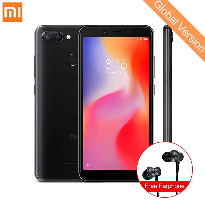 In Stock Global Version Xiaomi Redmi 6 3GB 32GB Smartphone MTK Helio P22 Octa Core 5.45