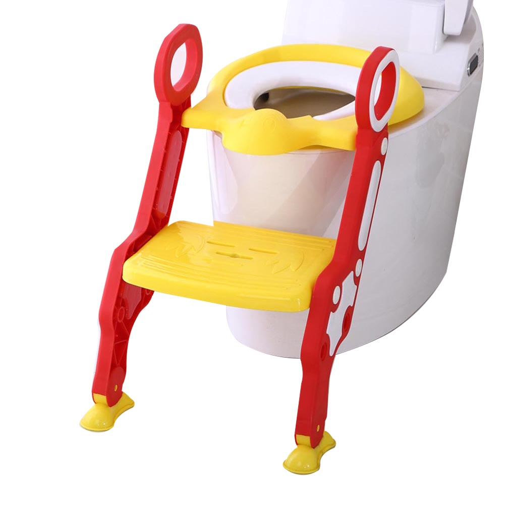 Baby Children Kids Potty Seat with Ladder Cover Toilet Folding Chair Pee Training Urinal Seating FJ88