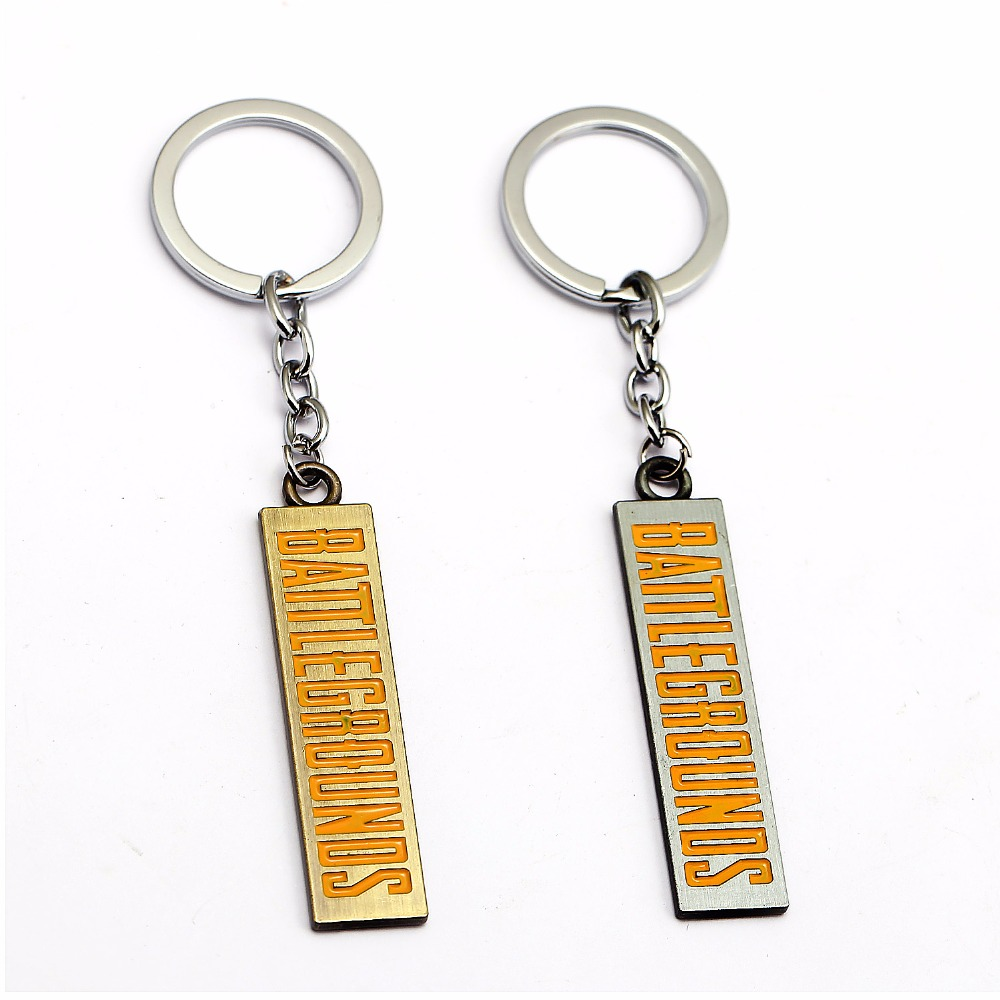 English Signature Pendant Key chain Around the Game Chicken Jedi Survival Battle Escape Edition Two-color Keychain Pendant