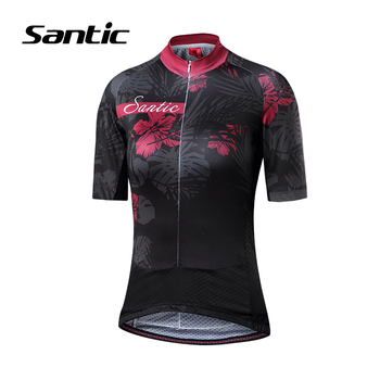 Santic Women Cycling Jersey Short Sleeve Quick Dry Jersey High Quality Mountain Road Bicycle Jersey Bike Clothing Ropa Ciclismo