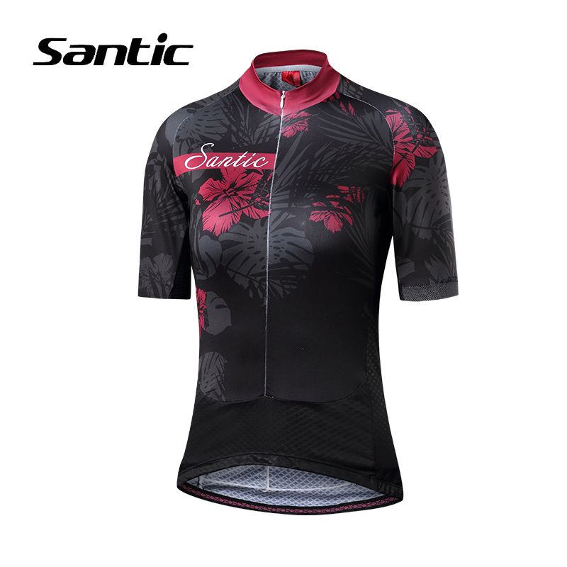 Santic Women Cycling Jersey Short Sleeve Quick Dry MTB Jersey High Quality Pro Sport Road Bicycle Jersey Bike Clothing Ciclismo