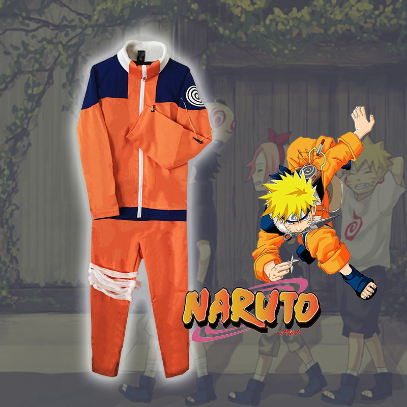 Milky Way Anime Naruto Uzumaki the 1st Hokage Cosplay Costume Naruto suits For Halloween Tops Pants Cosplay