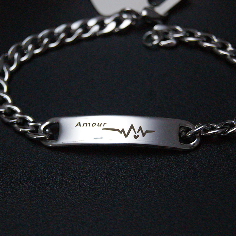 Ekg Heartbeat Amour Bracelets For Men
