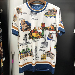 New 2019 spring summer Men/women's T shirts high quality 100% cotton print Tee Tops M-3XL size G112
