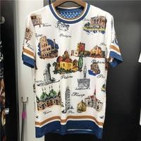 New 2019 spring summer Men/women's T shirts high quality 100% cotton print Tee Tops M 3XL size G112