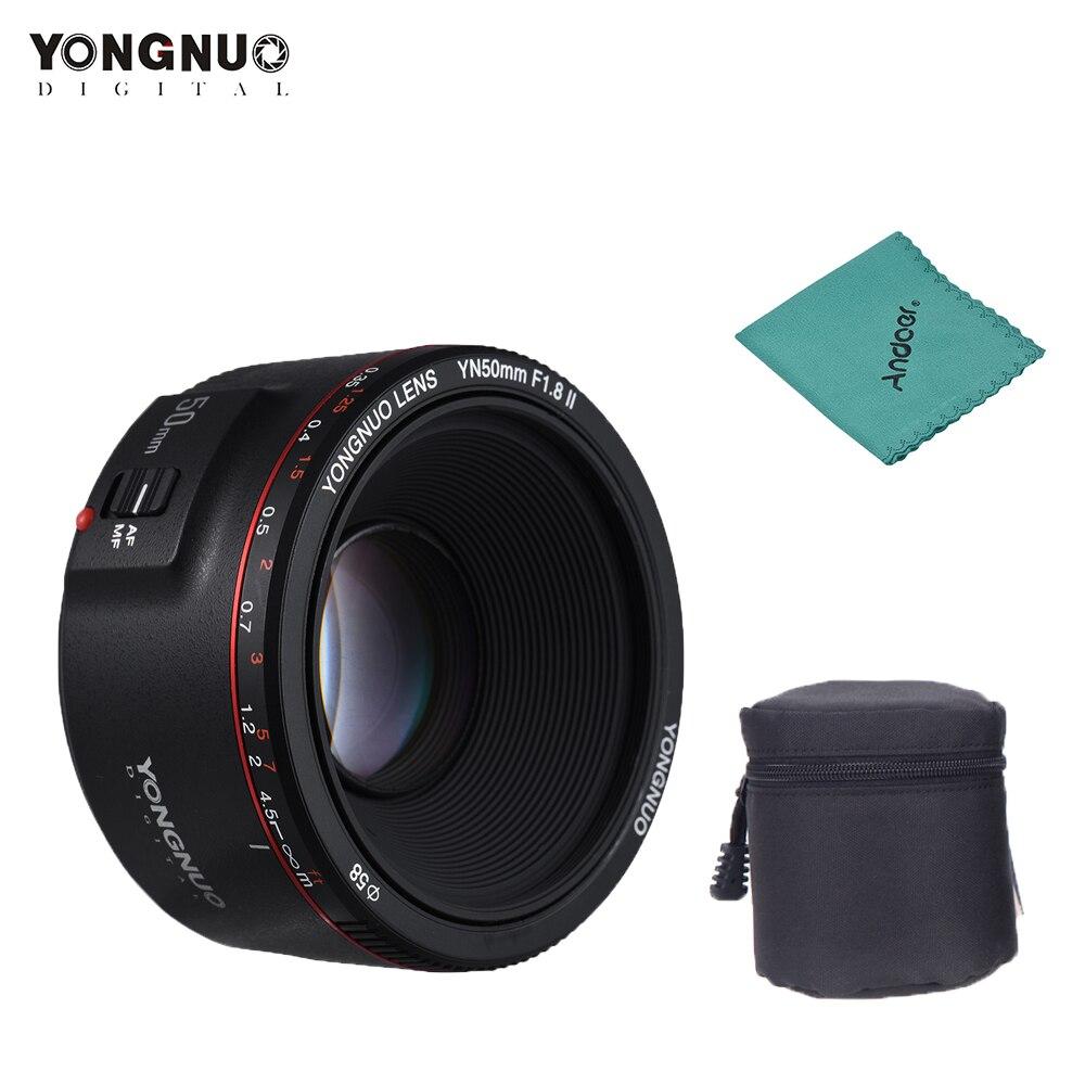 YONGNUO YN50mm F1 8 II Lens Large Aperture Auto Focus Lens for Canon EOS 70D 5D2