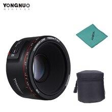 Объектив YONGNUO YN50mm F1.8 II с большой апертурой и автофокусом для камеры Canon EOS 70D 5D2 5D3 600D DSLR с тканевой сумкой для объектива
