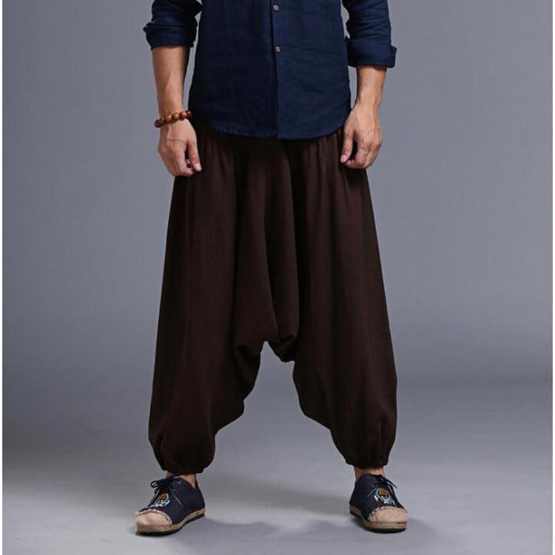 Men's Loose Style Linen Pants 3