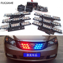 цена на Free Shipping 12V 54LED Car Auto Truck LED Beacon Emergency Recovery Flashing Warning Strobe Light Red Blue White Green Amber