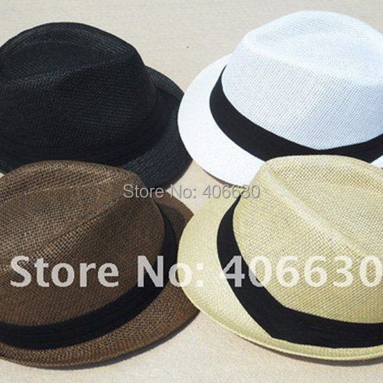 b3d65c647a2a1d Summer Straw Fedora Hats Pattern Chapeu Panama Sun Beach Hats Men Trilby  Caps 12pcs/lot Free Shipping MEDS022 ~ Hot Sale June 2019