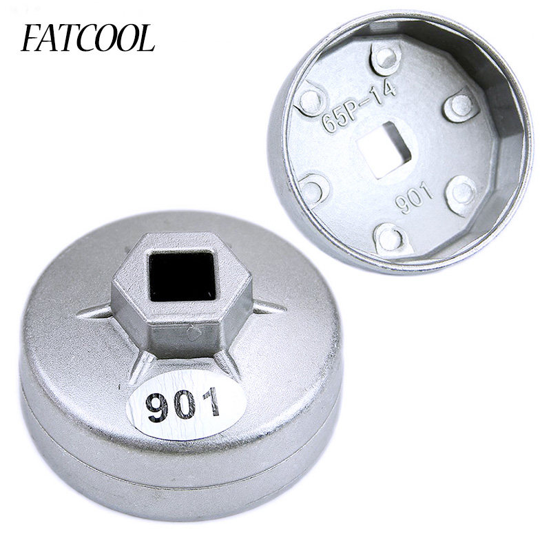 YUQIYU 1//2 Square Drive 64mm~102mm 15 Flutes End Cap Oil Filter Wrench Steel bowl type Auto disassembly tool For car repair Universal Color : 906