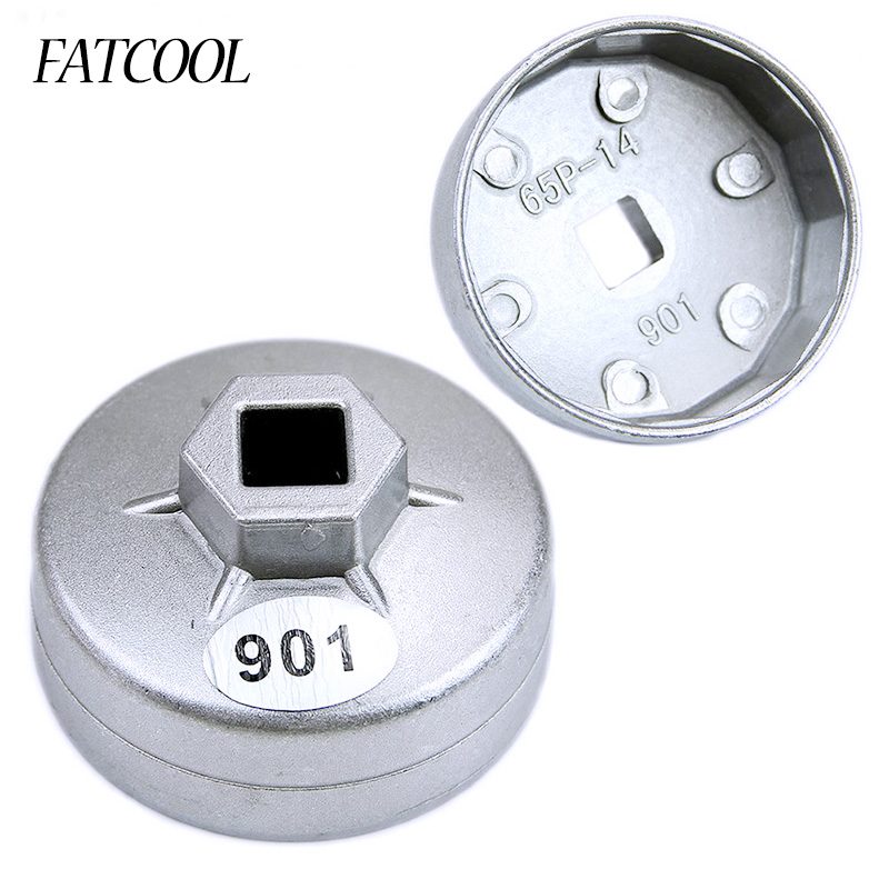 FATCOOL 2017 New 1/2 Square Drive 65mm 14 Flutes End Cap Oil Filter Wrench Auto Tool For Toyota