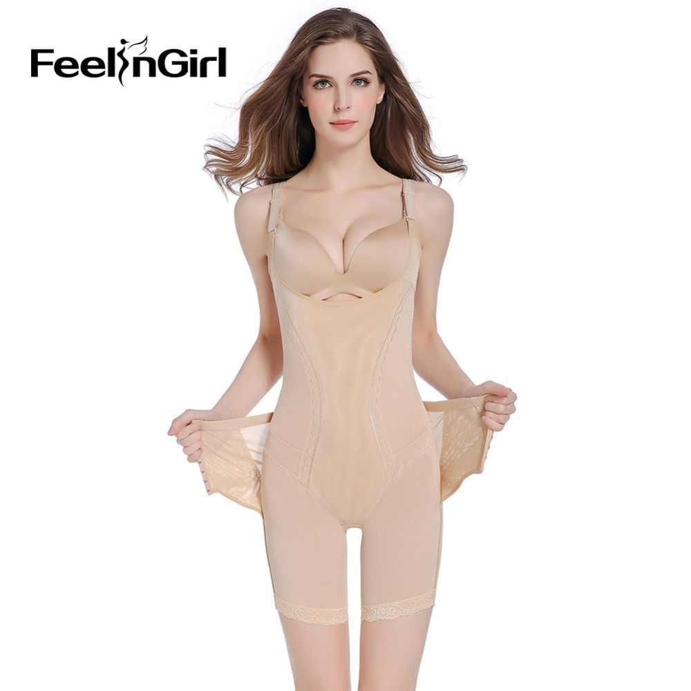 0473653cd1646 FeelinGirl Shapewear Slimming Shaper Corset Adjustable Hooks Body Shaper  Patchwork Waist Control Underwear Women Bodysuits -