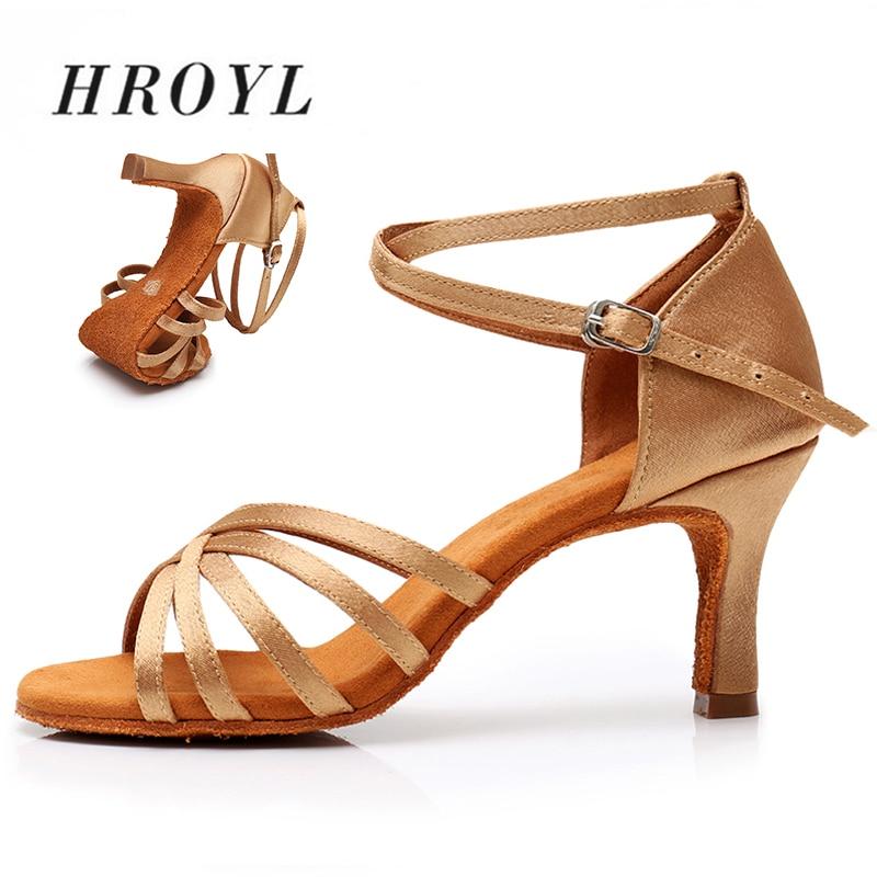 Hot Sales Satin/PU Women Latin Dance Shoes Ballroom Dancing Shoes Heeled 5CM 7CM 8 Colors For Girls Ladies Dance Shoes Size34-42