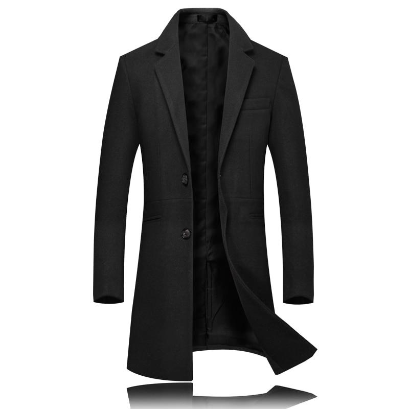 Noir gris Veste vert Longues Longue De Hommes Vert Mens Manches À Hiver Manteau Mince Gris pourpre Robe Violet Mode Noir Laine Élégant Marque nFHxqUwRq