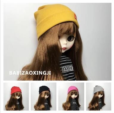 Candy Color 1/6 Blyth Fashion Doll Hat Doll Accessories Knit Hat  For Blyth Doll Accessory For 30cm Pullip