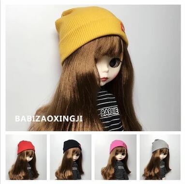 Candy Color 1/6 Blyth Fashion Doll Hat Doll Accessories Knit Hat  For Blyth Doll Accessory For 30cm Pullip