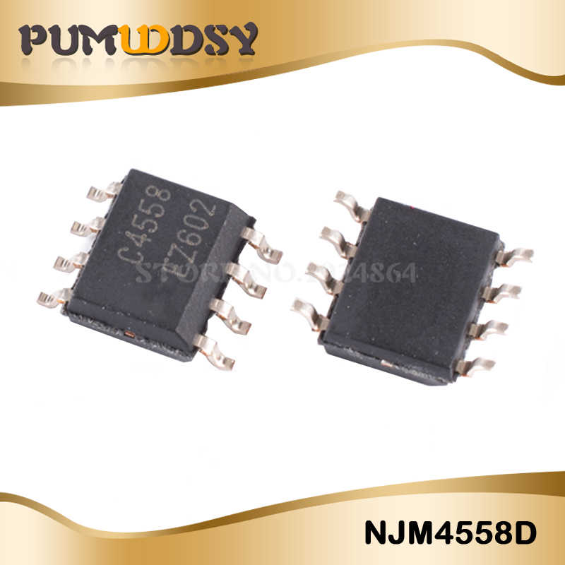 20PCS JRC4558D SOP8 NJM4558D SOP 4558 SMD 4558D JRC44558 Dual OP AMP free  shipping IC