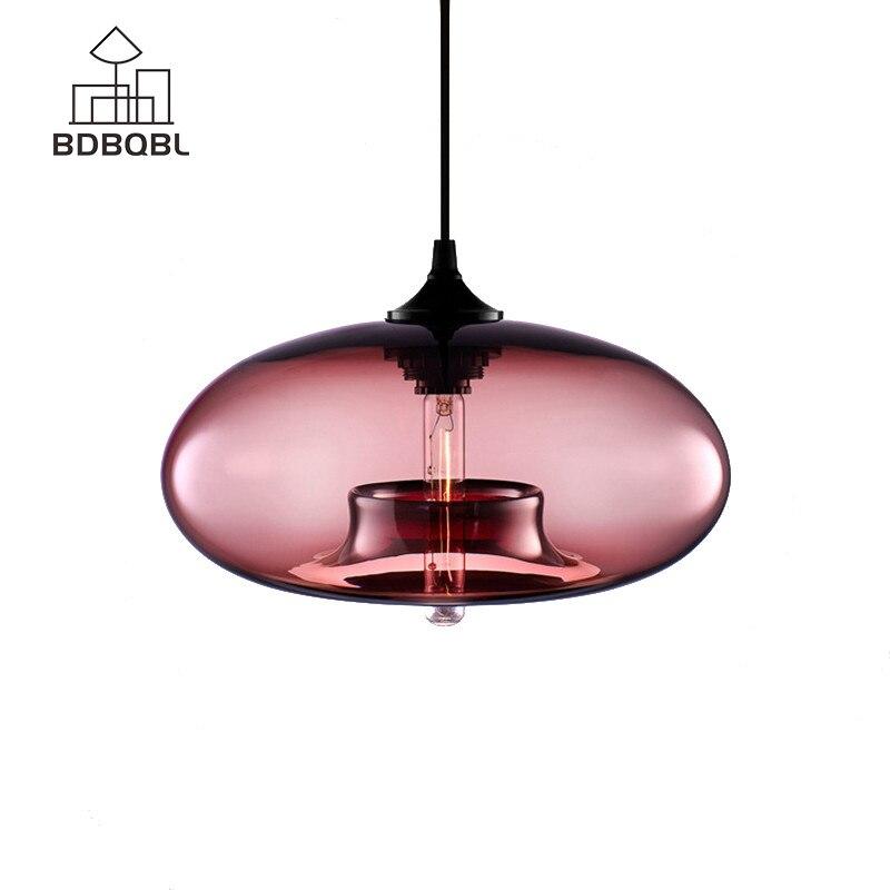 BDBQBL New Pendant Lamp Lights Lampshade Glass Fixtures for Kitchen Restaurant Cafe Bar Vintage Style Loft Lighting loft vintage edison glass light ceiling lamp cafe dining bar club aisle t300