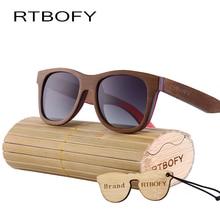 RTBOFY Древесины Солнцезащитные Очки Женщин 2017 Марка Дизайн Поляризованных очки солнцезащитные женские UV400 Оптические Свойства