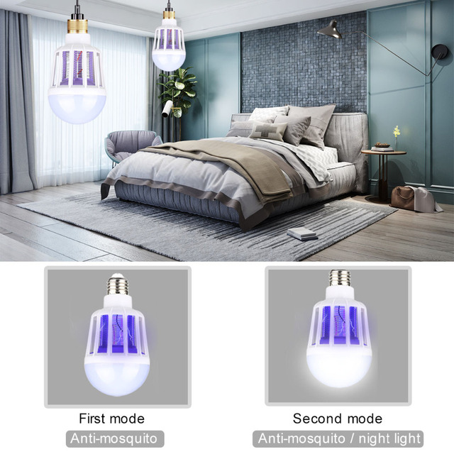 220V LED Mosquito Killer Bulb E27/B22 LED Bulb For Home Lighting Bug Zapper Trap Lamp Insect Anti Mosquito Repeller Light 4